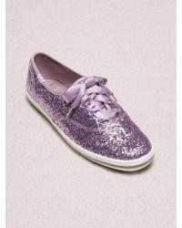 Kate Spade - Keds X New York Champion Glitter Sneakers - Lyst