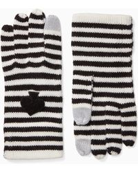 Kate Spade - Striped Spade Touchscreen Gloves - Lyst