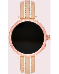 Kate Spade - Scallop Vachetta Leather Smartwatch Strap - Lyst