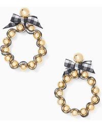Kate Spade - Pretty Pearly Hoops - Lyst