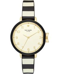 Kate Spade - Park Row Silicone-strap Watch - Lyst