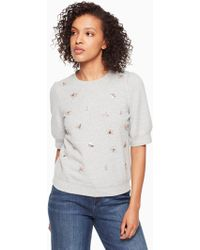 Kate Spade - Bee Embellished Pullover - Lyst