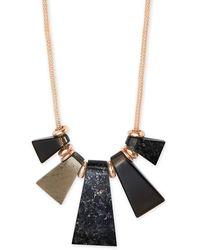 Kendra Scott Rhodes Rose Gold Statement Necklace - Metallic
