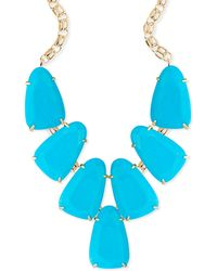 Kendra Scott - Harlow Statement Necklace In Turquoise - Lyst