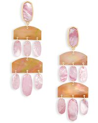 Kendra Scott - Emmet Statement Earrings In Blush Pearl - Lyst