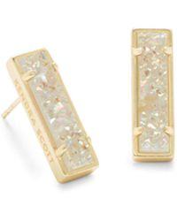 Kendra Scott - Lady Gold Stud Earrings - Lyst