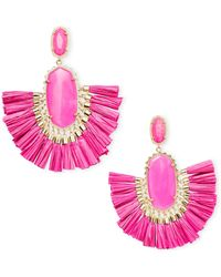 Kendra Scott - Cristina Gold Statement Earrings In Pink Agate - Lyst
