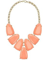 Kendra Scott - Harlow Statement Necklace In Coral - Lyst