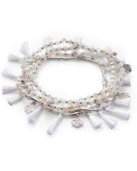 Kendra Scott - Julie Silver Stretch Bracelet Set In Ivory Mother Of Pearl Mix - Lyst
