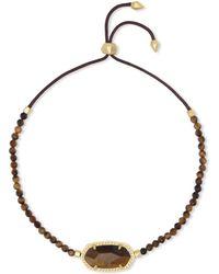 Kendra Scott - Elaina Gold Beaded Chain Bracelet - Lyst