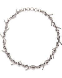 Kendra Scott - Cleo Collar Necklace In Antique Silver - Lyst