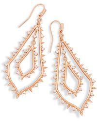 Kendra Scott - Alice Statement Earrings In Rose Gold - Lyst