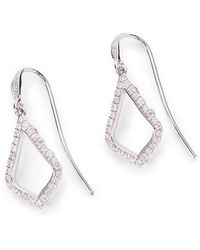 Kendra Scott - Liliana Drop Earrings In Pave Diamond And 14k Rose Gold - Lyst