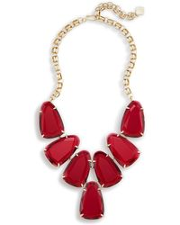 Kendra Scott - Harlow Statement Necklace In Berry Glass - Lyst