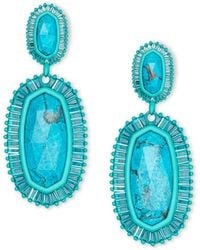 Kendra Scott - Kaki Matte Statement Earrings - Lyst