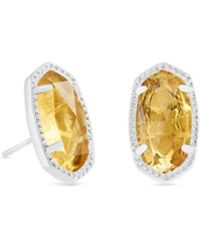 Kendra Scott - Ellie Silver Stud Earrings - Lyst