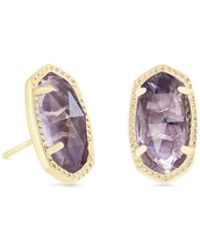 Kendra Scott - Ellie Gold Stud Earrings In Amethyst - Lyst