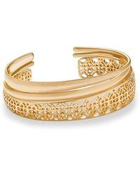 Kendra Scott - Tiana Gold Pinch Bracelet Set - Lyst