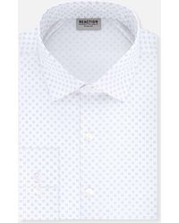Kenneth Cole Reaction - Long-sleeve Slim-fit Printed Dress Shirt - Lyst