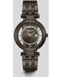 Kenneth Cole - Transparent Gunmetal Stainless Steel Watch - Lyst