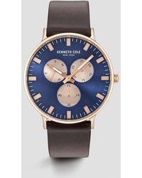 Kenneth Cole - Dark Blue Multi-function Watch - Lyst