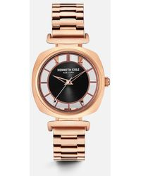 Kenneth Cole - Rose Gold-tone Transparent Watch - Lyst