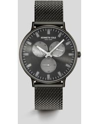 Kenneth Cole - Stainless Steel Mesh Round Multi-function Watch - Lyst