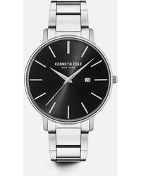 Kenneth Cole - Stainless Steel Round Watch - Lyst