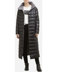 Kenneth Cole - Lightweight Maxi Puffer Coat With Contrast Lining - Lyst