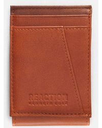 Kenneth Cole Reaction - Rfid Front Pocket Leather Wallet - Lyst