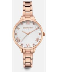 Kenneth Cole - Rose Gold-tone Round Watch - Lyst