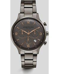 Kenneth Cole - Stainless Steel Gunmetal Watch - Lyst