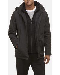 Kenneth Cole - Sleek Hooded Jacket In Water Resistant Nylon - Lyst