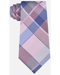 Kenneth Cole - Luna Plaid Point End Tie - Lyst