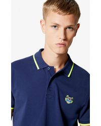 570d740213 KENZO Regular Fit Tiger Polo Shirt in Blue for Men - Lyst