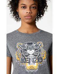 kenzo tiger t shirt anthracite