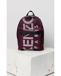 KENZO - Striped Logo Nylon Backpack - Lyst