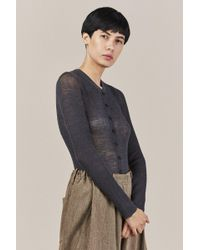 Creatures of Comfort - High V-neck Cardigan - Lyst