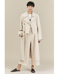 Tibi - Double Breasted Trench Coat - Lyst