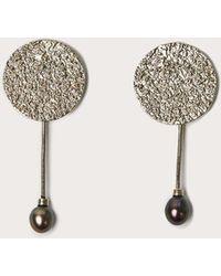 Quarry - Francesca Pearl Drop Earrings - Lyst