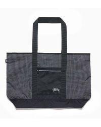Stussy - Ripstop Nylon Tote Bag Black - Lyst