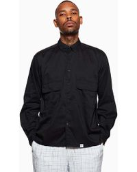 Bedwin And The Heartbreakers - Bedwin Marshall Ls Shirt Jacket Black - Lyst