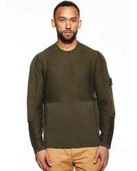 Stone Island | Ghost Pure Wool Crew Knit | Lyst