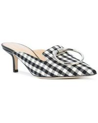 Monse - Checked Pointed Mules - Lyst