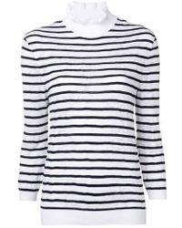 Chloé - Striped Turtleneck Jumper - Lyst