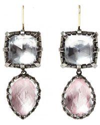 Larkspur & Hawk - Sadie Cushion And Pear Drop Earrings - Lyst