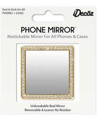Kirna Zabete Gold Square W/ Crystals Phone Mirror - Metallic