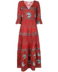 Le Sirenuse - Julia Diefenbach-print Maxi Dress - Lyst