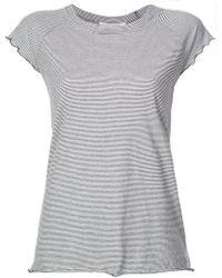 Nili Lotan - Striped Baseball T-shirt - Lyst