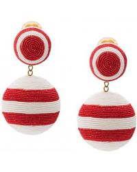 Rebecca de Ravenel - Two Drop Striped Earring - Lyst